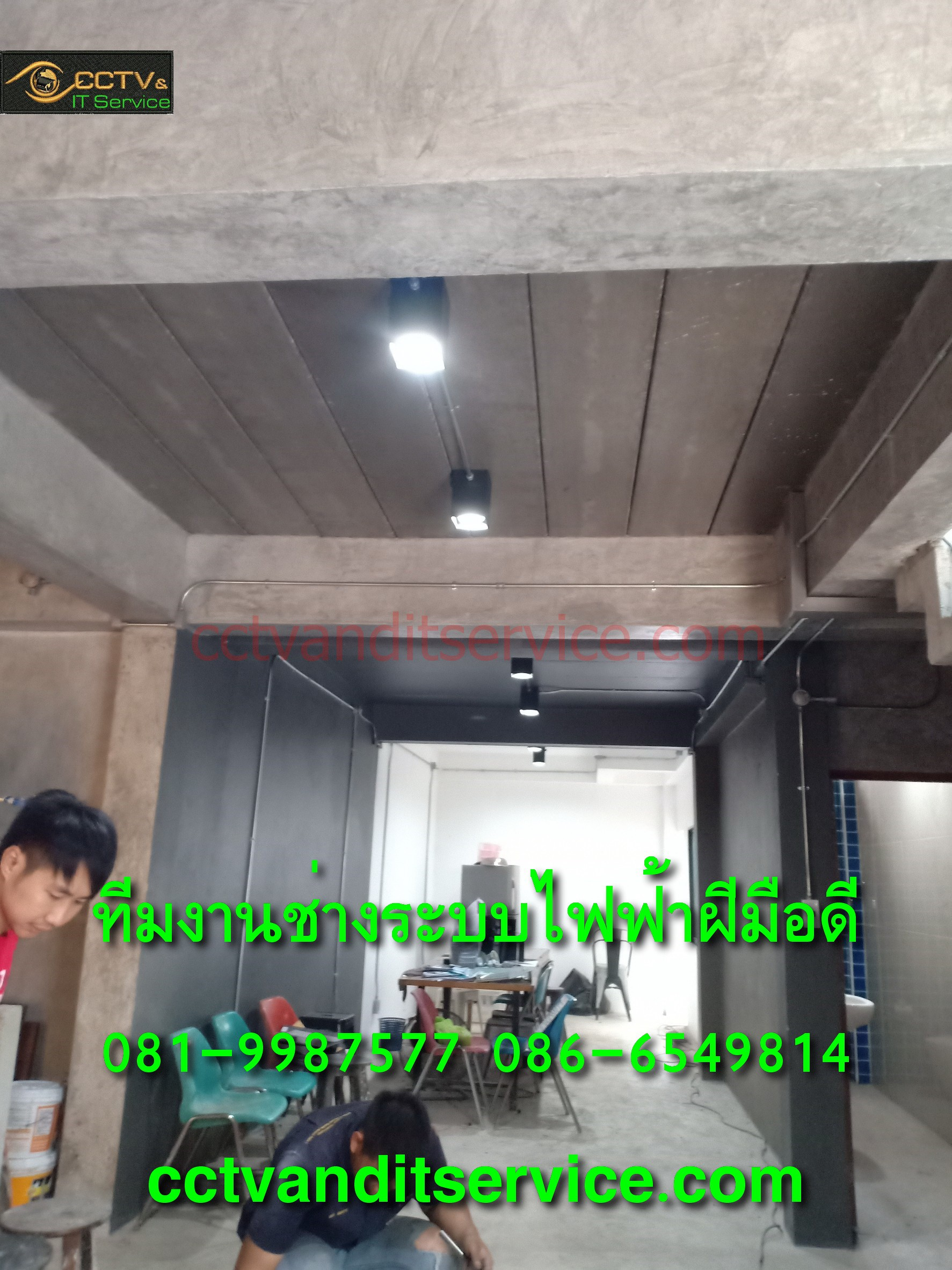 ช่างไฟฟ้าเดินท่อเหล็กEMT IMCสวยๆ ช่างไฟฟ้าวิชาชีพคนไทย งานที่ลูกค้าที่เชียงใหม่ ชอบผลงานแล้วต้องการเดินโชว์สวยๆ